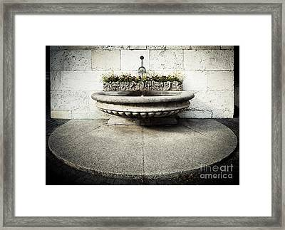 Geneva Fountain 1 Framed Print