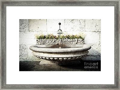 Geneva Fountain 2 Framed Print