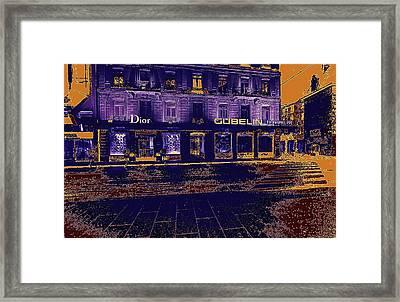 Geneva Street At Night Framed Print by Bimal Mehta