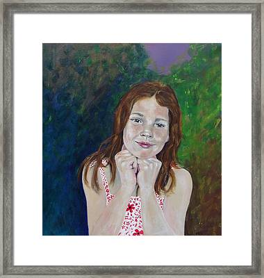 Genevieve  Framed Print by Peter Edward Green