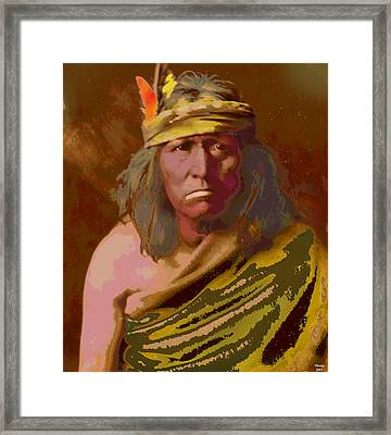Framed Print featuring the mixed media Gennetoa The Renegade by Charles Shoup