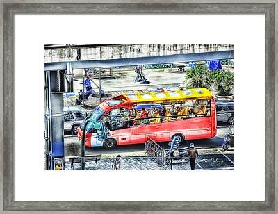 Genoa Sightseeing City Bus Framed Print by Enrico Pelos