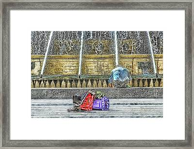 Genoa Sweet Hitchhiker In De Ferrari Square Framed Print by Enrico Pelos
