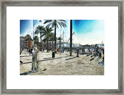 Genova Expo Area Framed Print by Enrico Pelos