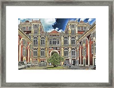 Genova Palazzo Reale - Royal Palace Of Palazzo Dei Rolli Framed Print by Enrico Pelos