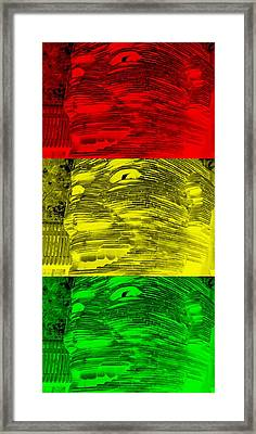 Gentle Giant In Negative Stop Light Colors Framed Print