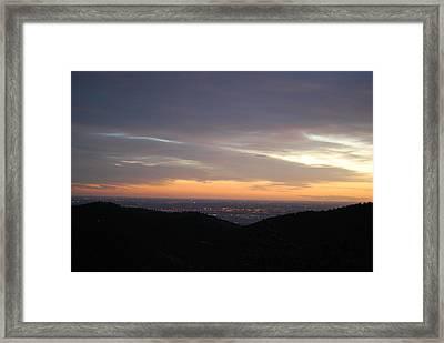 Gentle Sunrise Above Boulder Photo Framed Print