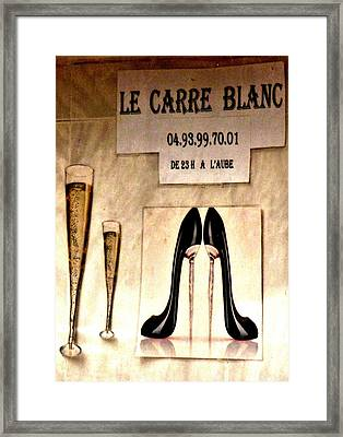 Gentleman's Club Cannes Framed Print