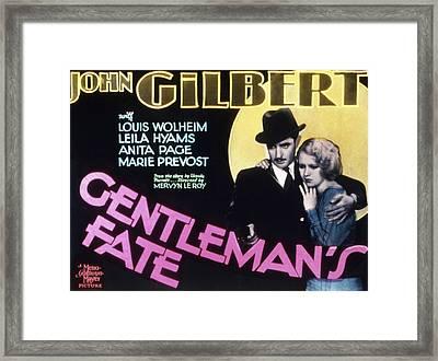 Gentlemans Fate, John Gilbert, Anita Framed Print by Everett