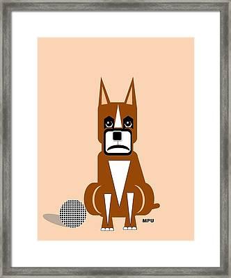 Geo Boxer Framed Print by Maria Urso