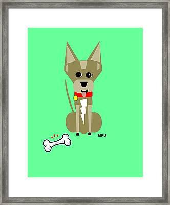 Geo Chihuahua Framed Print by Maria Urso