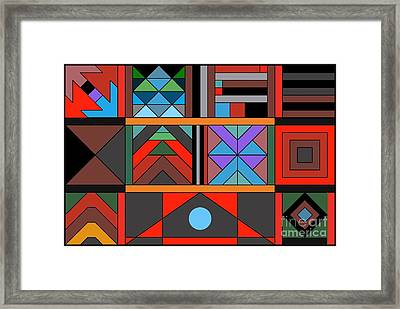 Geometric 2 Framed Print