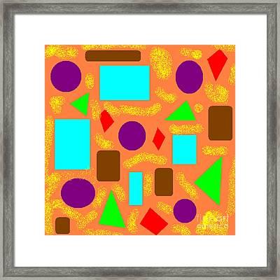 Geometric Abstract- Orange Framed Print by Jeannie Atwater Jordan Allen
