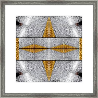 Geometric Metro Framed Print