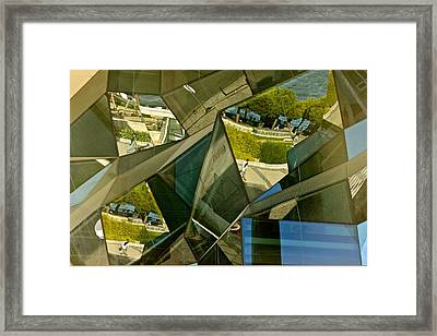 Geometric Reflections Framed Print by Michael Cinnamond