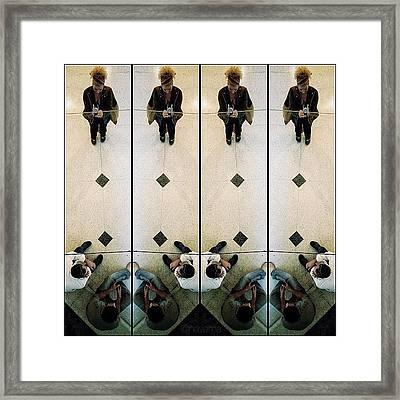 Geometric Reflections Framed Print