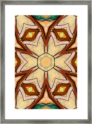 Geometric Stained Glass Abstract Framed Print by Linda Phelps