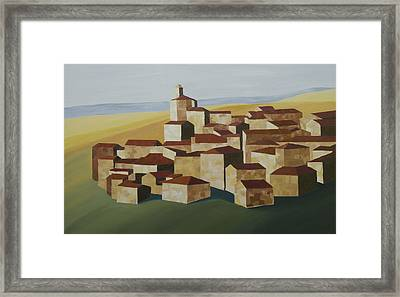 Geometric Village Spain Framed Print