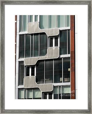 Geometric Windows Framed Print