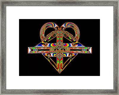 Framed Print featuring the photograph Geometry Mask by Steve Purnell
