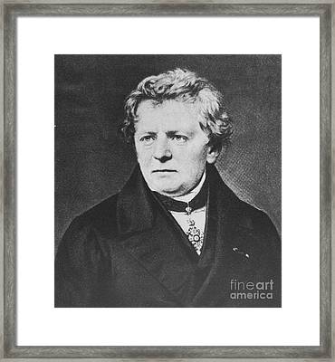 Georg Ohm, German Physicist Framed Print by Science Source