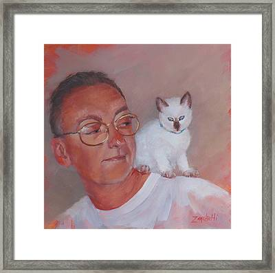 George And Doc Framed Print by Laura Lee Zanghetti