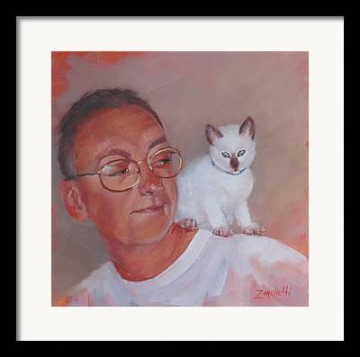 Pet And Owner Framed Prints
