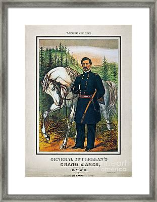 George B. Mcclellan, 1864 Framed Print by Granger