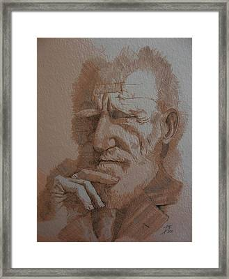 George Bernard Shaw Framed Print by Ray Agius