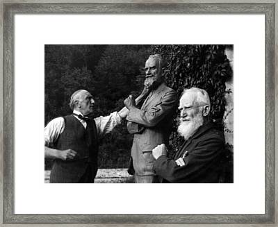 George Bernard Shaw Right, Poses Framed Print