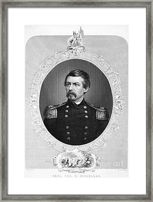 George Brinton Mcclellan Framed Print by Granger