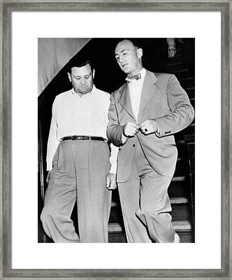 George Bugs Moran, 50, And M.w Framed Print by Everett