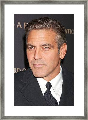 George Clooney At Arrivals For 2008 Framed Print by Everett