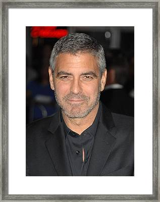 George Clooney At Arrivals For Up In Framed Print by Everett