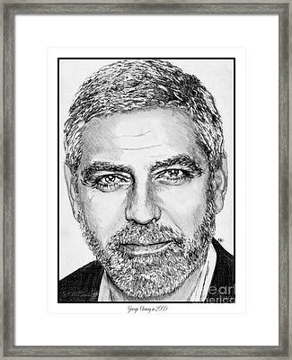 George Clooney In 2009 Framed Print
