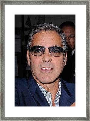 George Clooney, Leaves The Live With Framed Print