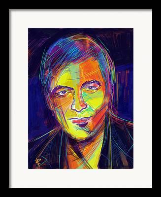 Clooney Mixed Media Framed Prints