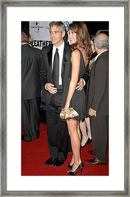 George Clooney, Sarah Larson Framed Print by Everett