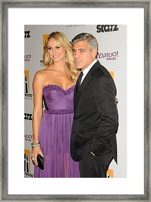 George Clooney, Stacy Keibler Framed Print by Everett