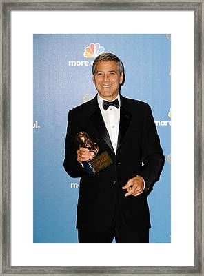 George Clooney Wearing Giorgio Armani Framed Print by Everett