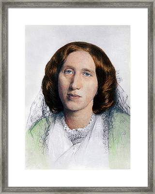 George Eliot 1819-1880 Was Born Mary Framed Print by Everett