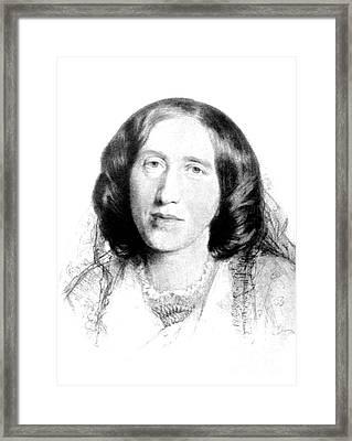 George Eliot, English Author Framed Print