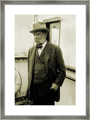 George F. Baker Sr., Wealthy American Framed Print by Everett