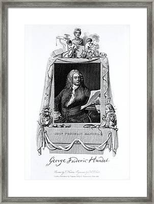 George Frideric Handel, German Baroque Framed Print by Omikron