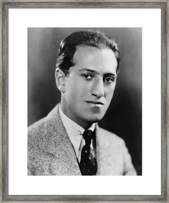George Gershwin 1898-1937 American Framed Print by Everett