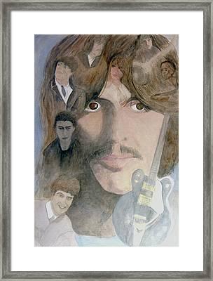 George Harrison Give Me Love Give Me Hope Framed Print by Christian Lebraux Kennedy