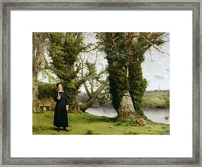 George Herbert At Bemerton Framed Print
