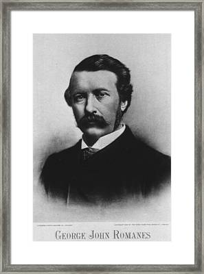 George John Romanes 1848-1894, Wrote Framed Print by Everett