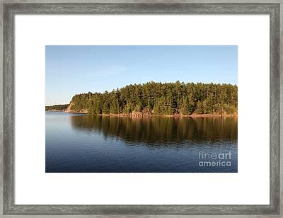 George Lake, Canada Framed Print by Ted Kinsman