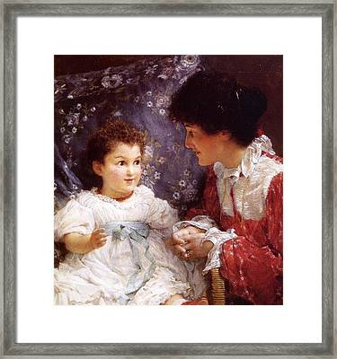 George Lewis And Her Daughter Framed Print
